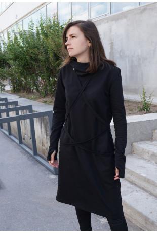 Платье и капюшон Bound Ninja Black