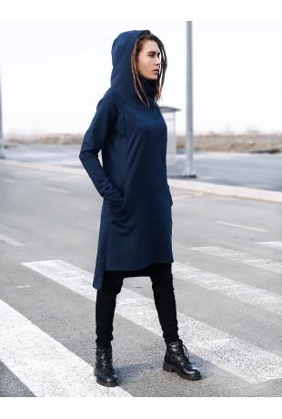 Платье-туника с капюшоном Kosmo Indigo