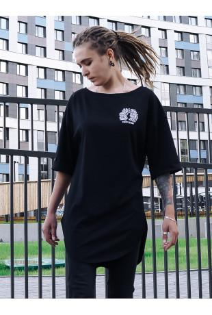 Удлиненная футболка Black Дыши
