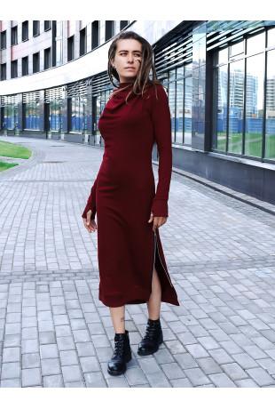 Платье с капюшоном Grace Bordo