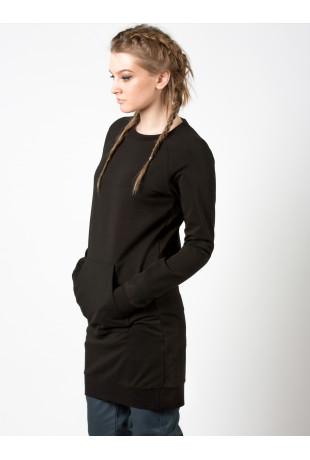 Удлиненный свитшот Black