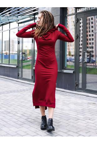 Платье с капюшоном Grace Red