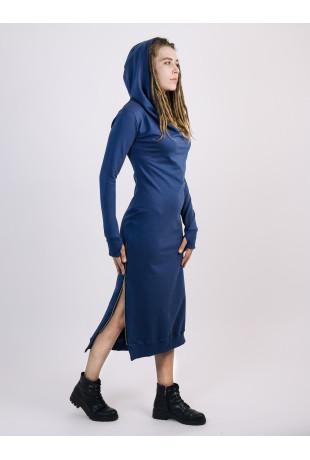Платье с капюшоном Grace Indigo