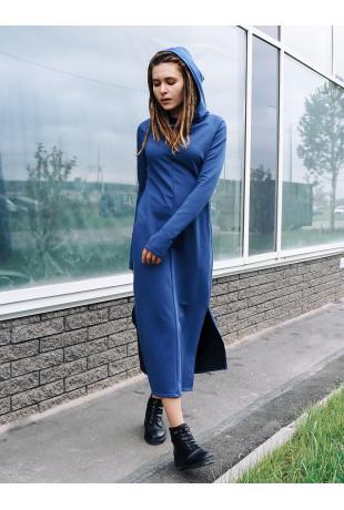 Платье с капюшоном Reboot Indigo