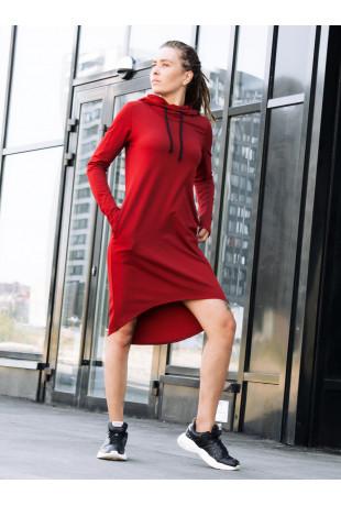 Платье худи с капюшоном Red