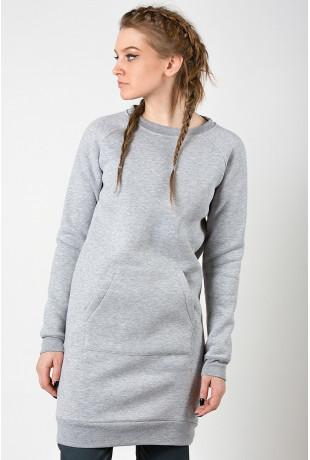 Удлиненный свитшот Grey теплый