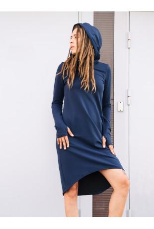 Платье с капюшоном Indigo