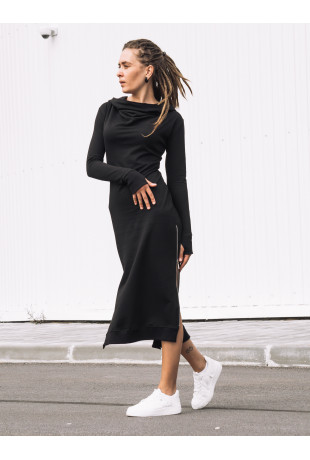 Платье с капюшоном Grace Black