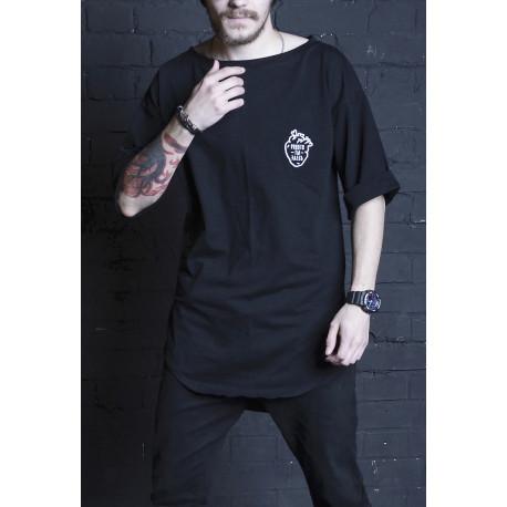 Удлиненная футболка Black Heart