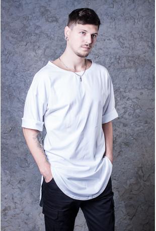 Удлиненная футболка White